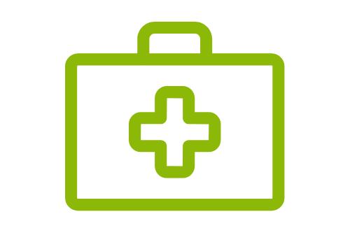 ご利用者様やご家族の状態にあわせた適切な医療や介護、リハビリを提供します。